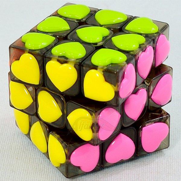 YongJun 3x3x3 Peças Coração Heart Stickerless Black