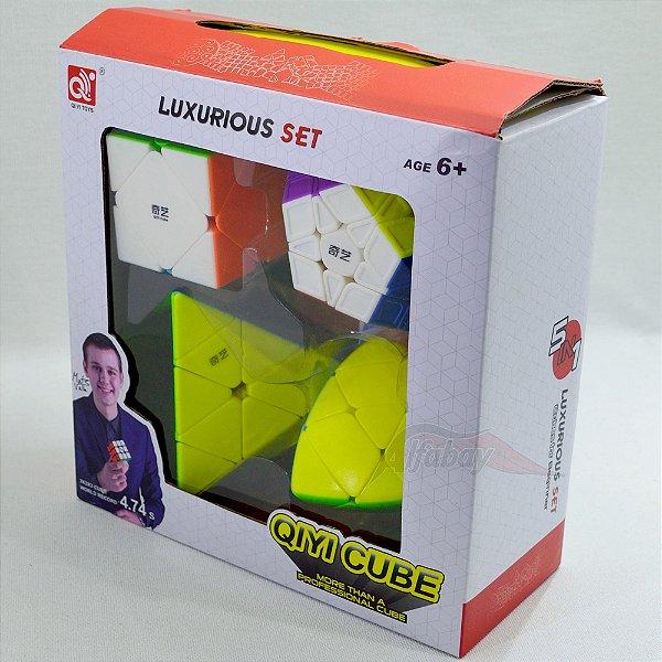 Box QiYi Megaminx + Skewb + Pyraminx + Mastermorphix Luxe Stickerless
