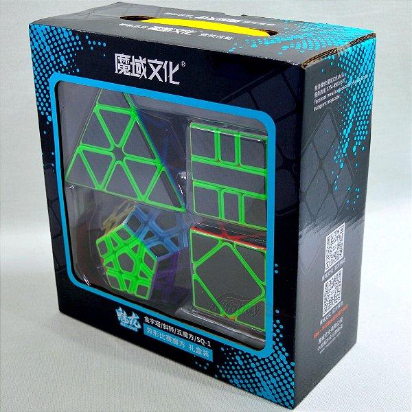 Box Moyu MeiLong Pyraminx + Skewb + Megaminx + Square -1 Carbon