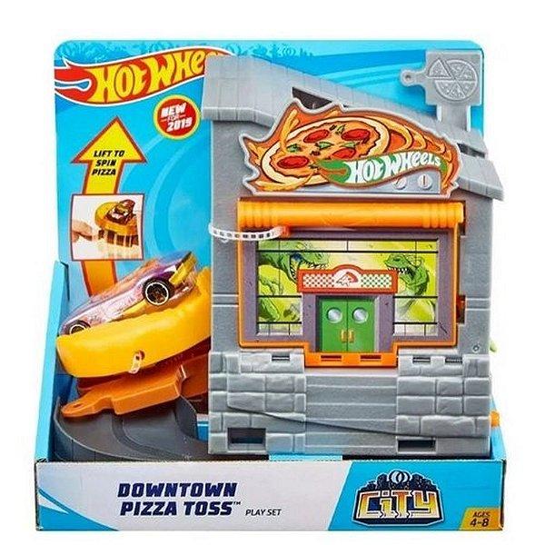 Hot Wheels City Estação De Pizza - Ataque Ao Dino - Mattel
