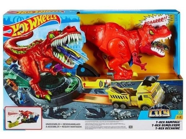 Pista Hot Wheels - City T-rex Demolidor - Com Carrinho