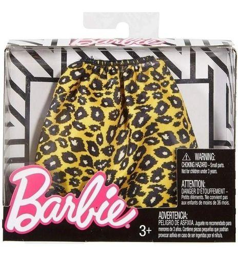 Roupa Da Barbie Fashion Pack Cartela Saia Laranja De Onca