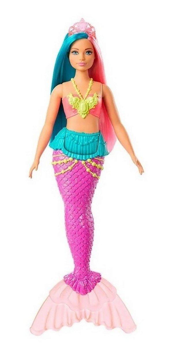Barbie Dreamtopia Calda De Sereia Cabelo Rosa E Azul Turquesa Mattel 30 Cm