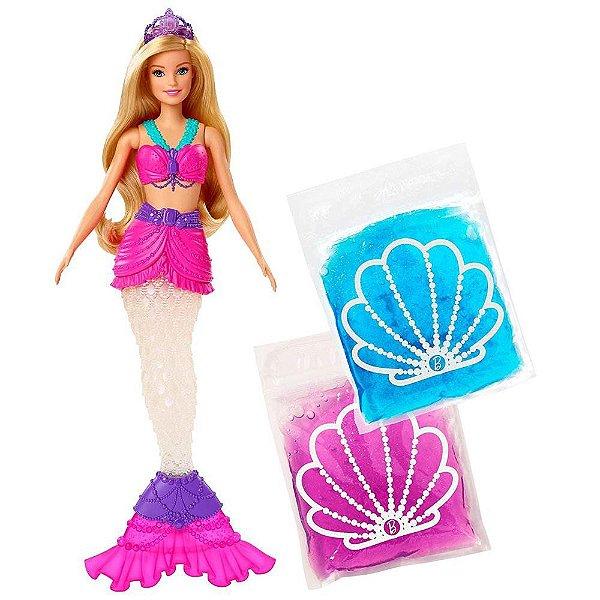 Barbie Dreamtopia - Loira Calda De Sereia Com Slime Dentro