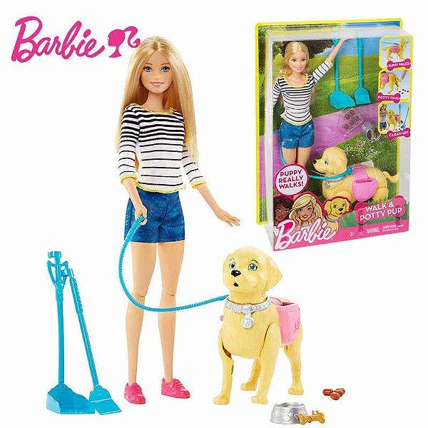 Boneca Barbie Family Passeio Com O Cachorrinho -  Mattel