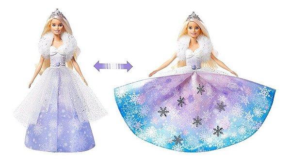 Barbie Dreamtopia Princesa Vestido Mágico Encantado 2 Em 1 - Com Acessórios