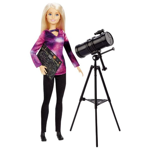 Boneca Barbie National Geographic Astrofísica Com Telescópio com Mapa