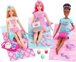 Barbie Aventura De Princesas Festa Do Pijama 3 Bonecas Cada Com Seu Pijama