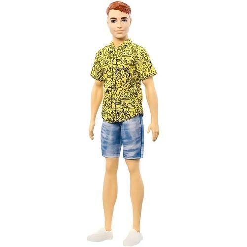 Boneco Ken Ruivo Camiseta Amarela Fashionistas 139 - Barbie