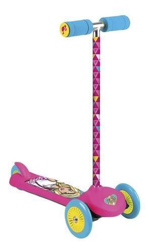 Patinete Infantil 3 Rodas Barbie Fabuloso Rosa Thi Wheels