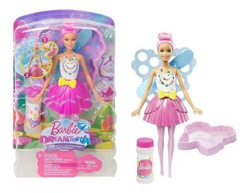 Barbie Dreamtopia Fantasia Fada Bolhas De Sabão Magicas