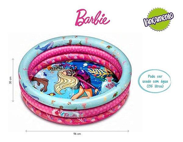 Piscina De Bolinhas Inflável Barbie Com 25 Bolinhas 135litro