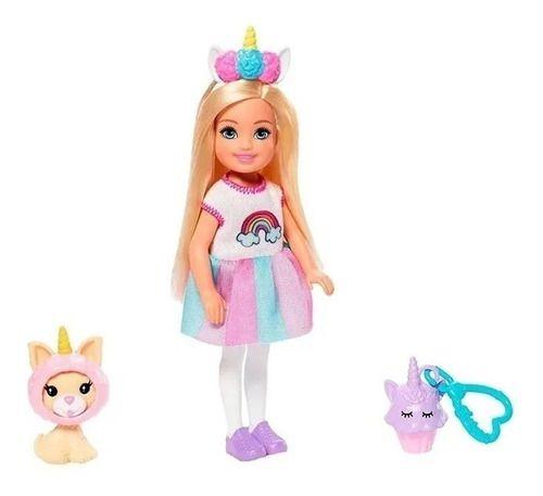 Boneca Baby Barbie Club Chelsea Com Fantasia De Unicórnio