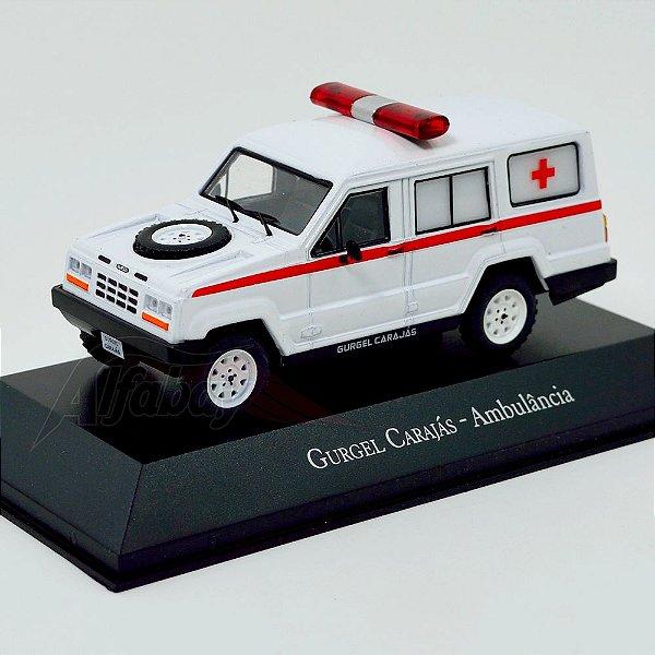 Carro Miniatura Gurgel Carajás Ambulância Carros Inesquecíveis do Brasil