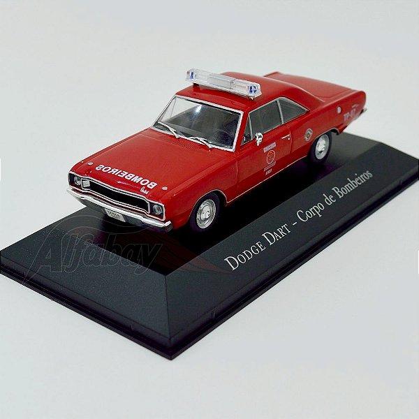 Carro Miniatura Dodge Dart Corpo de Bombeiros Carros Inesquecíveis do Brasil
