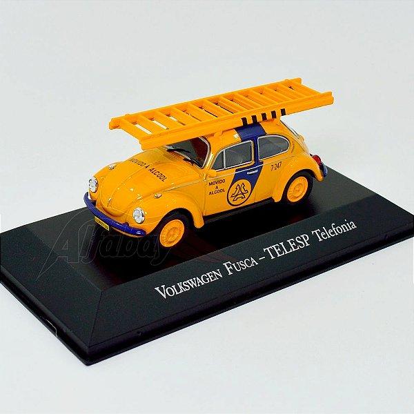 Carro Miniatura Volkswagem Fusca TELESP Telefonia Carros Inesquecíveis do Brasil