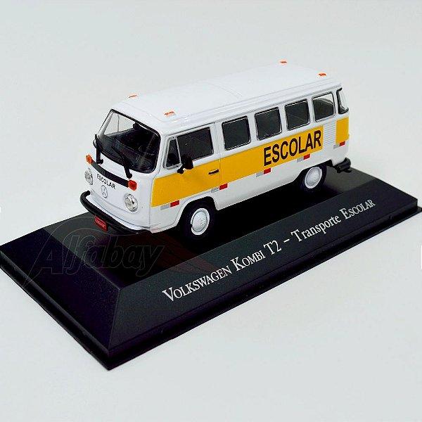 Carro Miniatura Volkswagem Kombi T2 Transporte Escolar Carros Inesquecíveis do Brasil