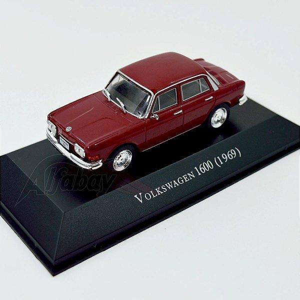 Carro Miniatura Volkswagem 1600 1969 Carros Inesquecíveis do Brasil