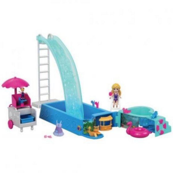 Playset e Boneca - Polly Pocket - Piscina Surpresas Escondidas - Mattel