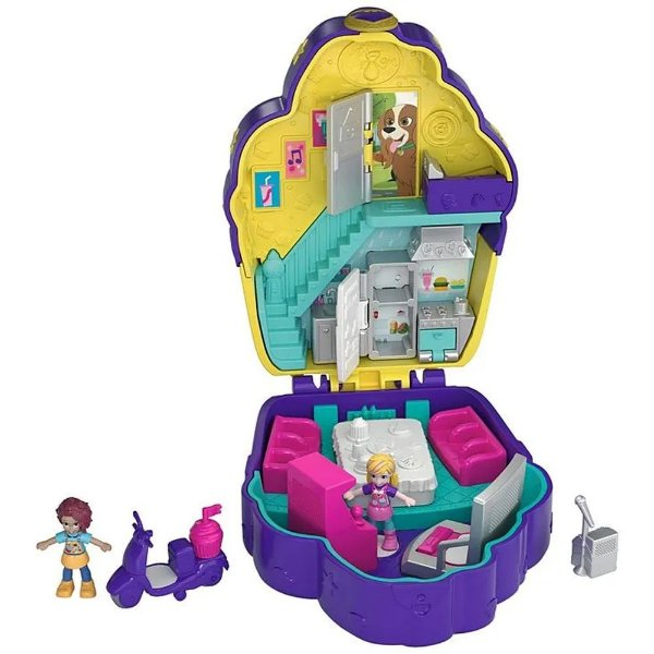 Polly Pocket - Casa Da Polly - Mini Mundo De Aventura - Magico