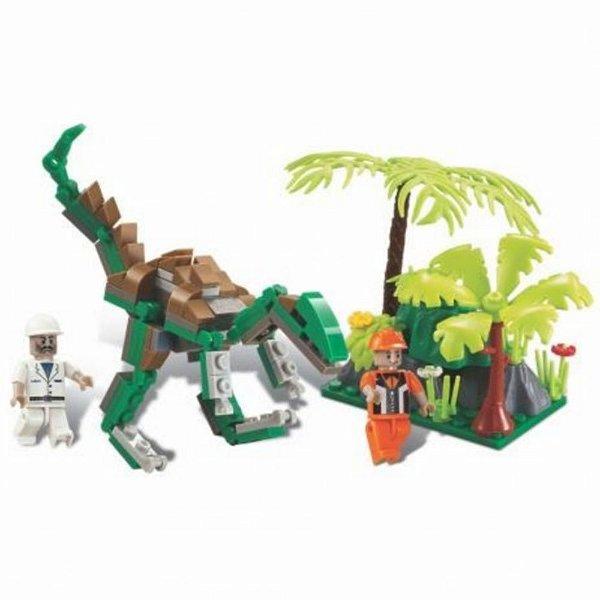Blocos De Montar Dino Expedição Raptor Dinossauro 126 Peças