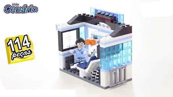 Blocos De Montar Cenário Dentista 114pçs