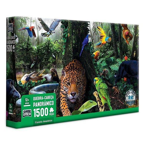 Quebra Cabeça Panorâmico 1.500 Peças Floresta Amazônica