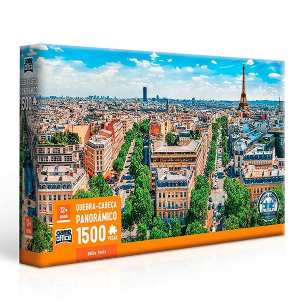 Quebra Cabeça Panorâmico 1.500 Peças Belle Paris