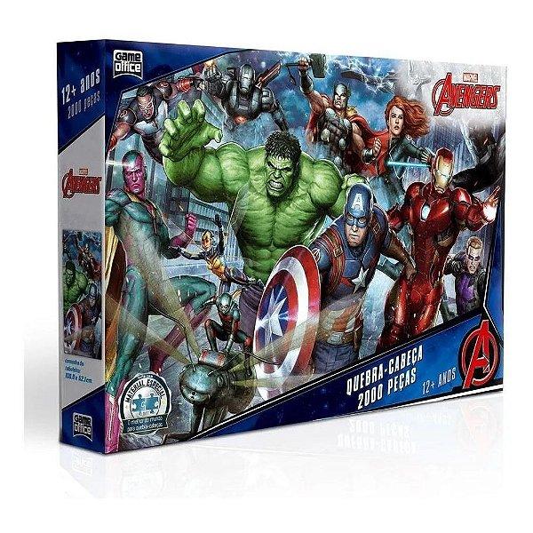 Quebra Cabeça 2.000 Peças Marvel Avengers Vingadores