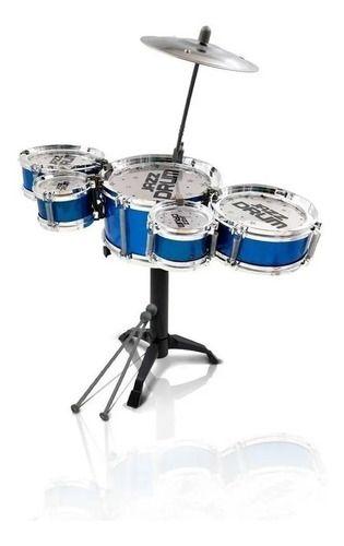 Bateria Infantil Mini Jazz Drum Tambor Baquetas Completa