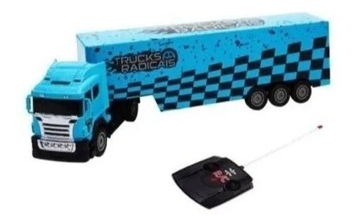 Caminhão de Controle Remoto Trucks Radicais Azul
