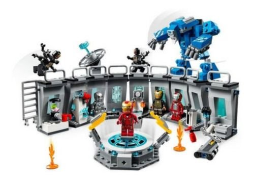 Lego Avengers Vingadores O Salão De Armaduras De Iron Man