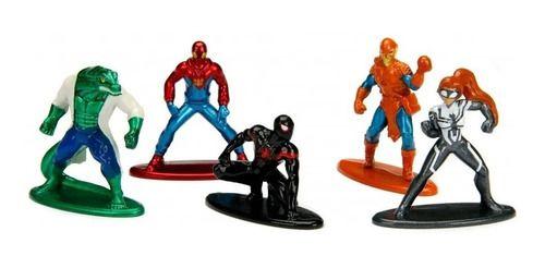 Nano Metalfigs Kit C/ 5 Marvel Homem Aranha Spider-man