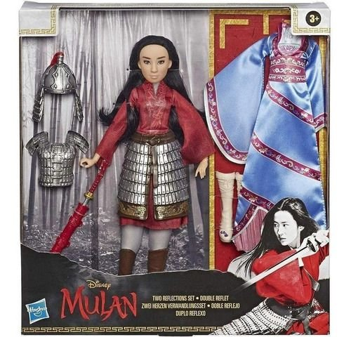 Boneca - Disney - Princesas - Mulan Troca De Roupa