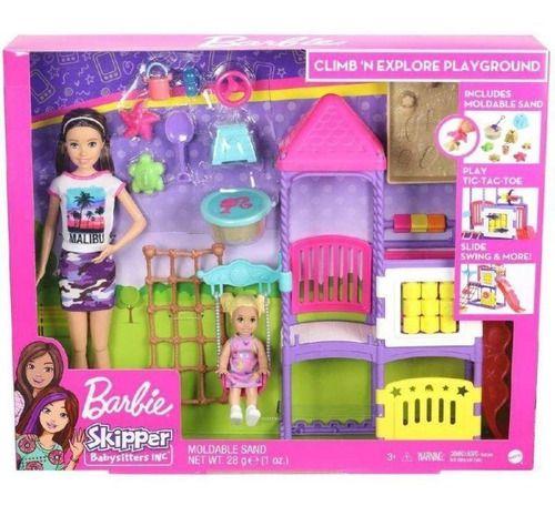 Barbie Skipper Babá Dia No Parque + Princesa Bebe