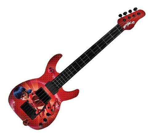 Guitarra Ladybug Brinquedo Musical Menina Miraculous