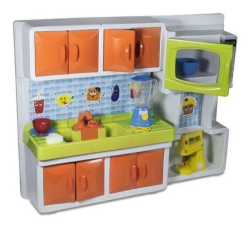 Cozinha Pia Micro ondas Batedeira Infantil Completa 82cm