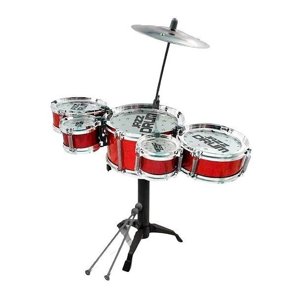 Bateria Musical Infantil Tambor Baquetas Big Band