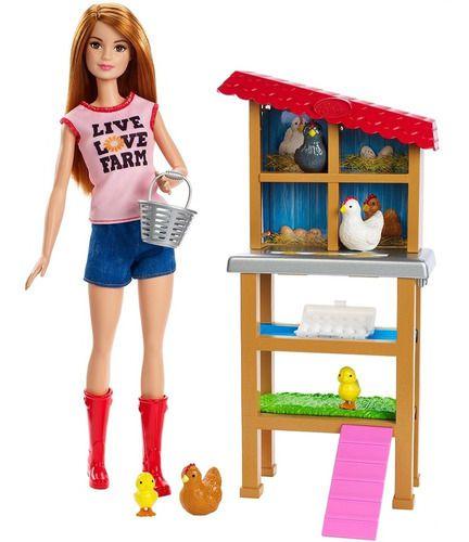 Barbie Ruiva Profissões Granjeira
