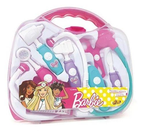 Brinquedo De Maleta Médica Da Barbie Infantil