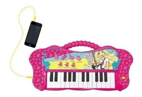 Teclado Infantil Glamoroso Barbie Com Função Mp3 Player