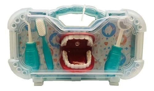 Dr Dentinho Com Maleta De Dentista Infantil Azul