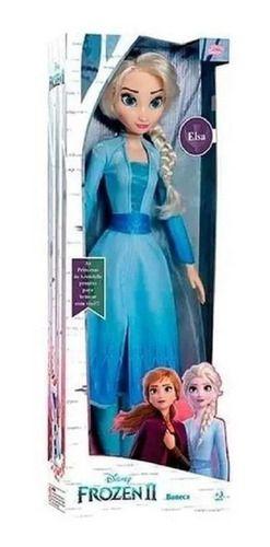 Boneca Elsa Frozen 2 Disney Gigante Grande 55 Cm
