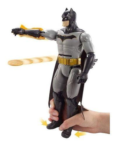 Boneco Batman Articulada 30 Cm Dc Comics Lança Disco