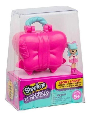 Micro Shopkins Lil Secrets Laço Mini Boneca e Pingente