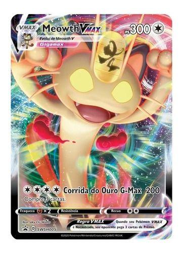 Box Pokémon Cards Coleção Especial Meowth Vmax