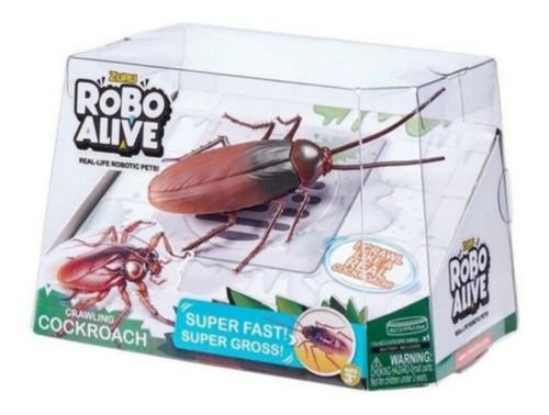 Brinquedo Robo Alive Barata Rastejante Anda Sozinho