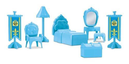 Judy Home Quarto Princesa Azul Snow Com Cetro