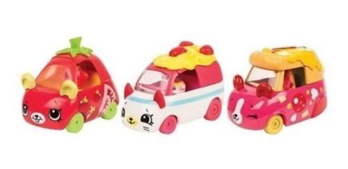 Kit 3 Carrinhos Shopkins Cutie Cars Coleção Italianinhos