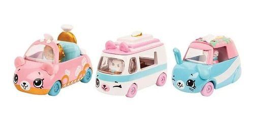 Kit Com 3 Carrinhos Shopkins Cutie Cars Coleção Casório